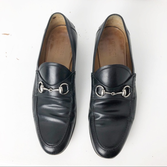 55e58fd7a82 Gucci Other - GUCCI MENS BLACK LEATHER HORSEBIT DRESS LOAFER